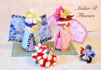 桃の節句に! 折り紙とお花で作る「お内裏さま&お雛さまドール」のご案内