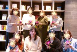苔玉を使ったお正月アレンジ☆日本の伝統文化、折り紙が活躍☆