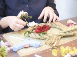 【毎月、玄関に違うリースを飾りたい!】初めてのリースは純和風なしめ縄飾り♡