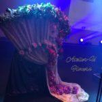 二胡コンサート×扇型オブジェ☆渋谷ステージのフラワー装飾